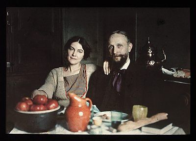 Painter Henri Rious (1877–1944) with wife, Marseille