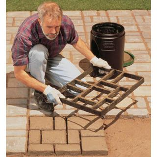 Diy project faux stone pavers backyards walkways and for Diy stone projects