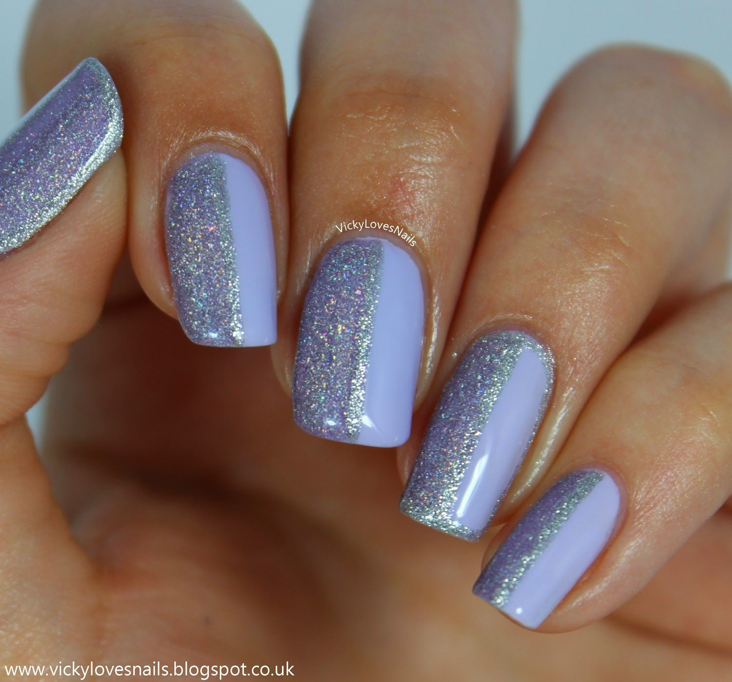 vicky loves nails: half and half manicure | my nail art