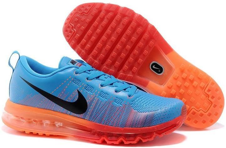 more photos 11e33 de923 Nike Flyknit Air Max Running Royal Blue Red Orange | Nike ...