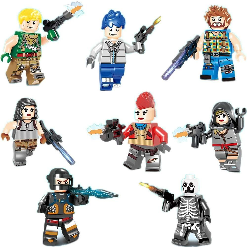 FORTNITE Game Set Minifigs Ninja Skull Trooper Dark Voyager