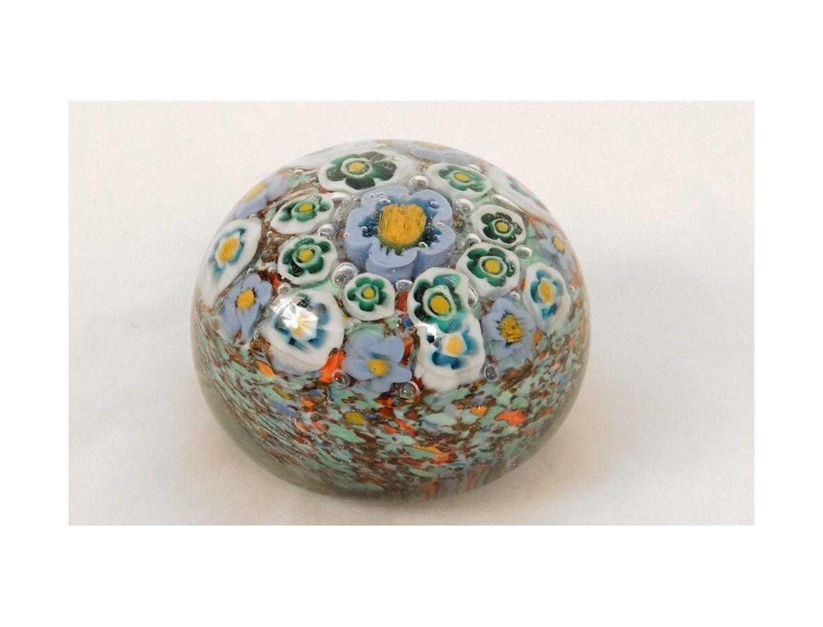 cool sulfure cristal millefiori murano italie venise fleurs xxme antiquits du golfe with. Black Bedroom Furniture Sets. Home Design Ideas
