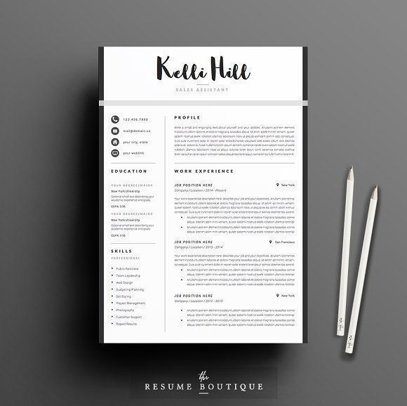 Resume Template 5 page pack Jolie Cv cover letter, Cover letter - sample application cover letter template