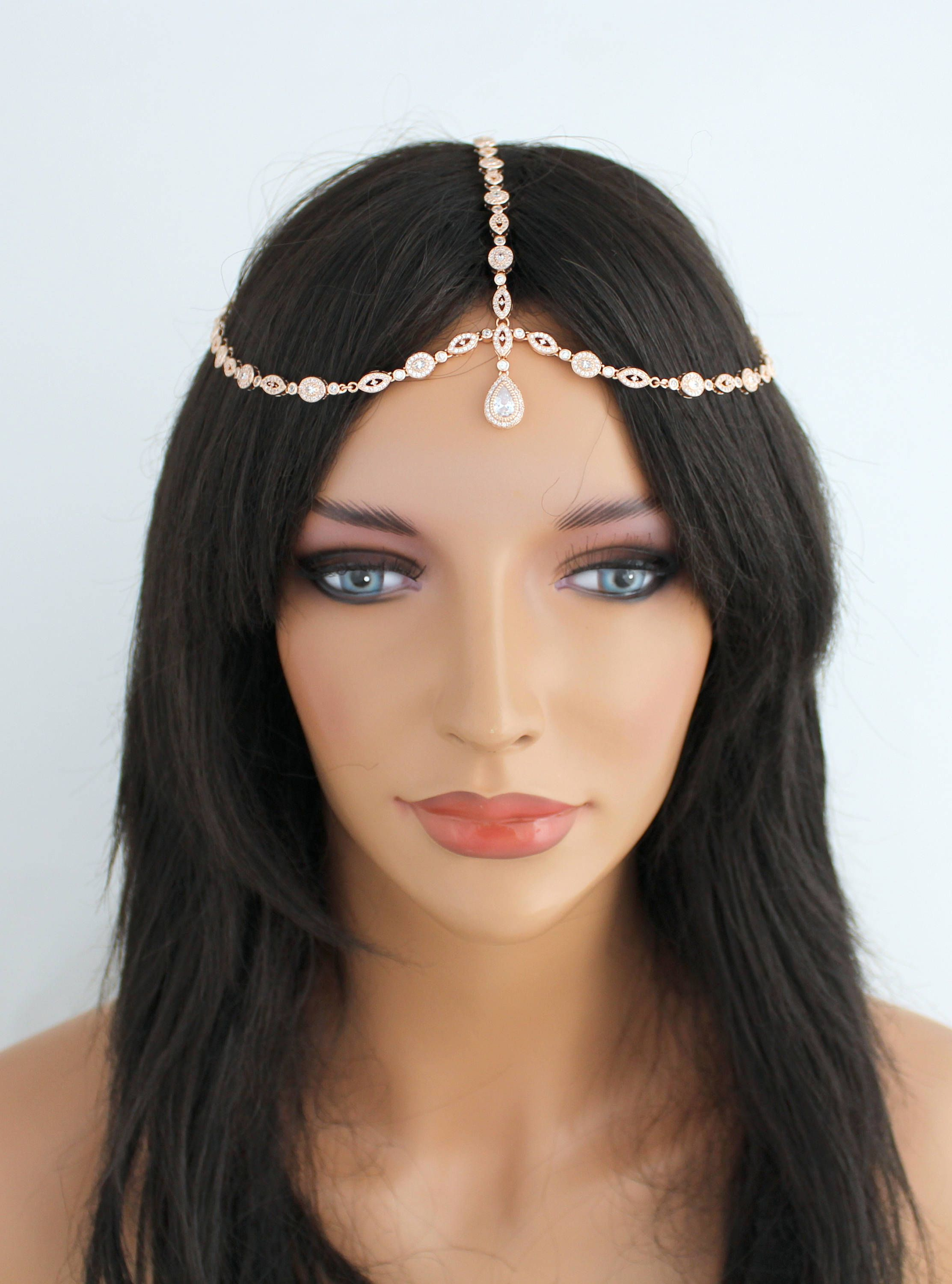 rose gold headpiece boho wedding headpiece bridal hair