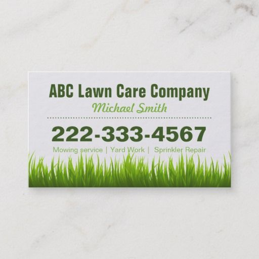 Lawn Care Landscaping Services Appointment Card is part of lawn Design Home - Lawn Care Landscaping Services Appointment Card  Green Grass Style and Unique Business Card Template for you  All text style, colors, sizes and the background color can be modified to fit your needs  If you need any customization, please contact me