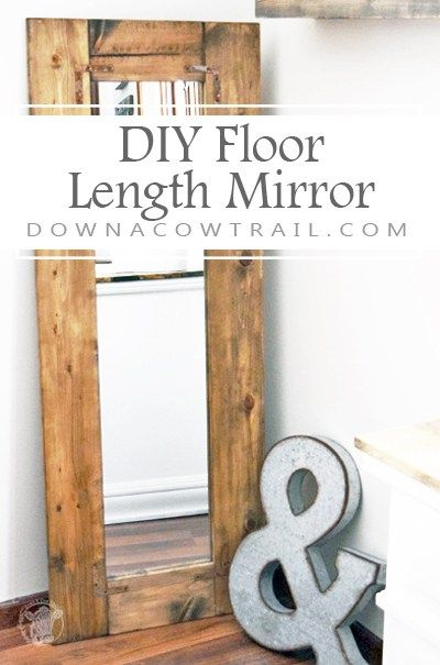 Best This Wooden Farmhouse Style Floor Length Mirror Is A 640 x 480