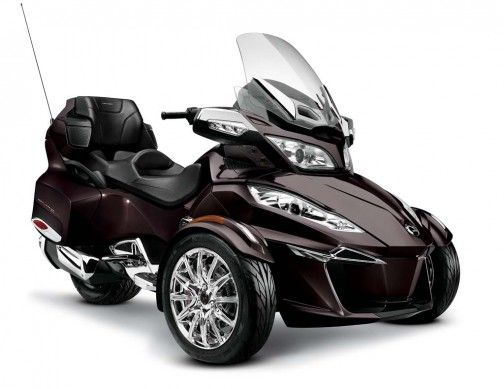 Picture Of A Can Am Spyder In The Color Currant 2014 Cam Am Spyder Roadster Rt Ltd 3 4 Blk Currant 14 Can Am Spyder Can Am Spyder