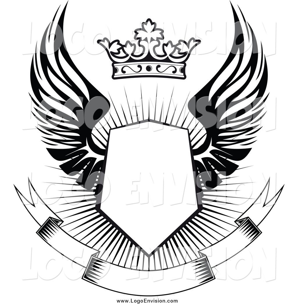 Crest With Wings Google Search Desain Logo Gambar Serigala Desain Banner