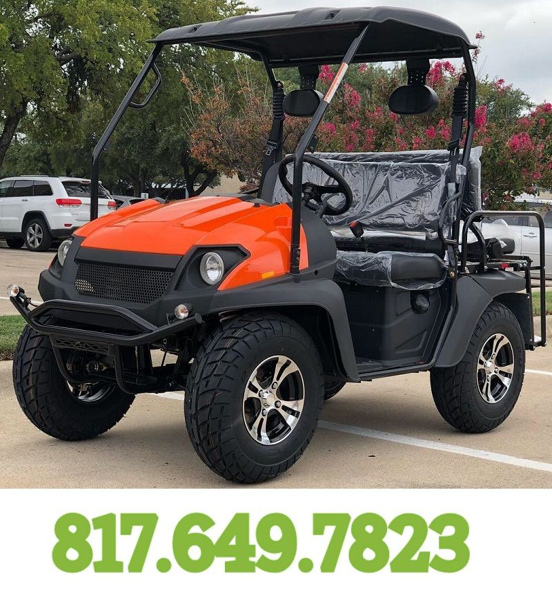 Orange Fully Loaded Cazador OUTFITTER 200 Golf Cart 4