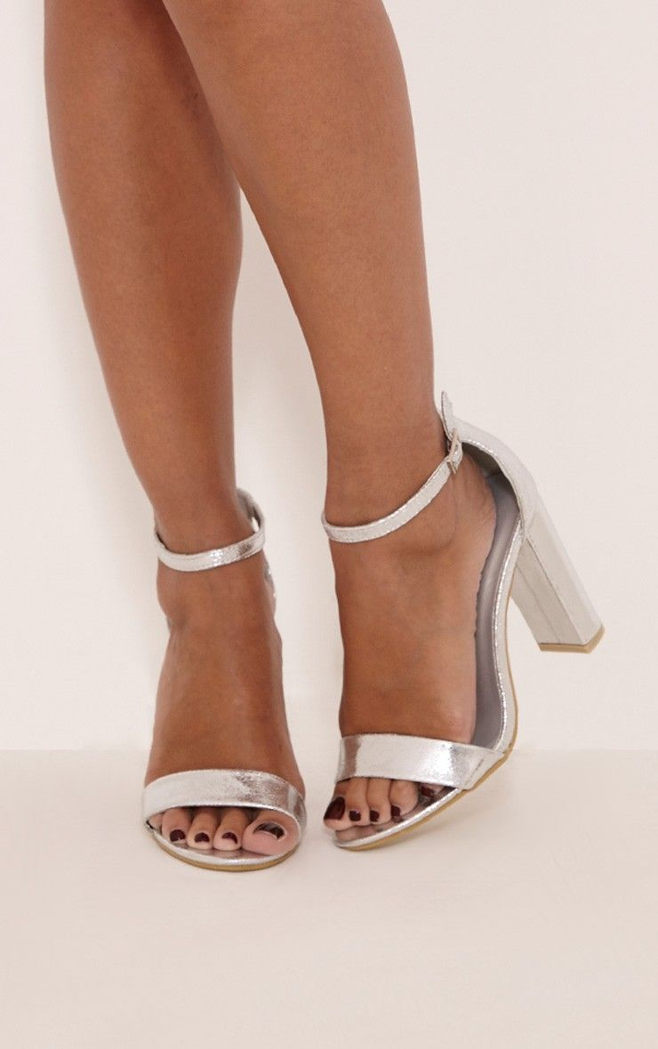 May Silver Block Heeled Sandals. Grey SandalsGrey ShoesShoes ...