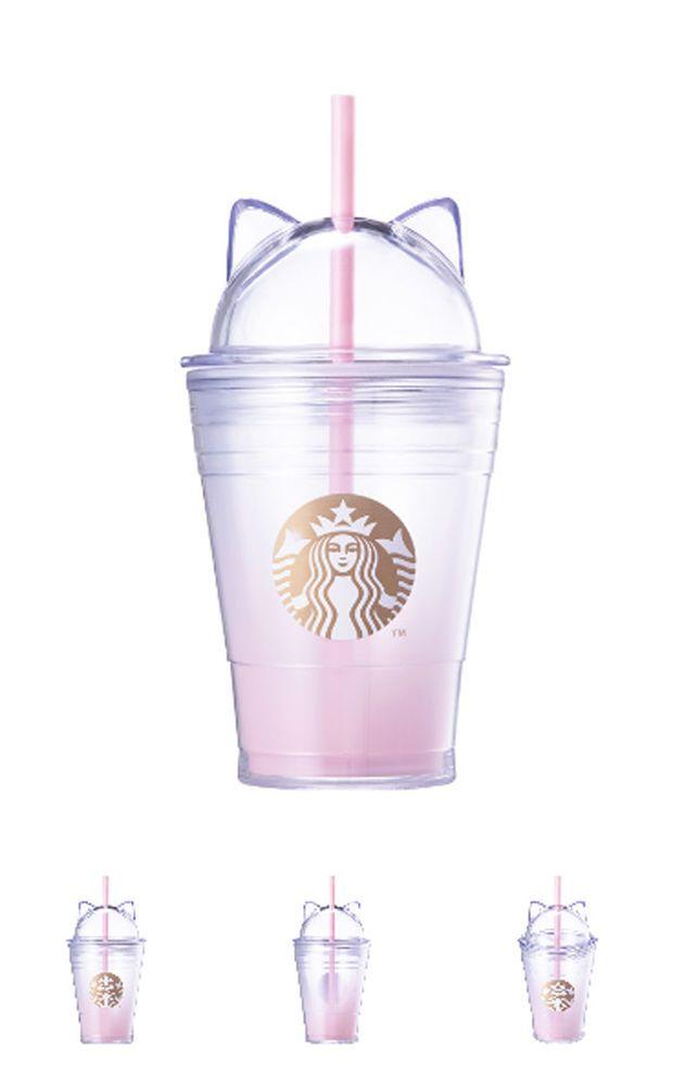 2018 Starbucks Korea Valentines Day Cat Lid Coldcup Tumbler 355ml Cuteness STARBUCKS