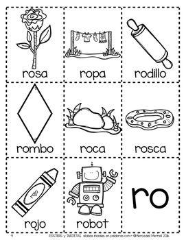 Posters Y Tarjetas De Silabas Iniciales En Palabras Con R En Espanol Spanish Writing Abc Worksheets Spanish Handouts