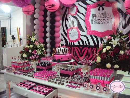 decoraç u00e3o de festa zebra com vermelho Pesquisa Google Eventos y mas Table Decorations  -> Decoração De Zebra Para Aniversario