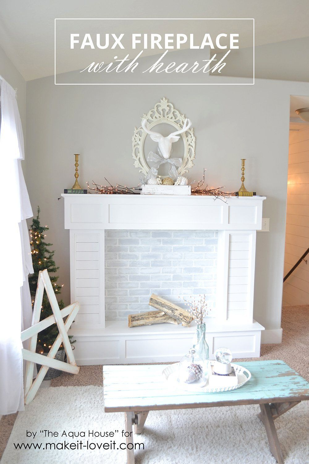 Pinterest Faux Fireplace Part - 33: Make A FAUX FIREPLACE WITH HEARTH...that Looks Absolutely Real! | Via