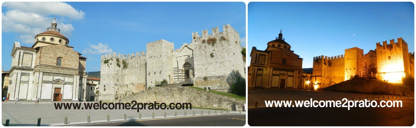 Piazza Santa Maria delle Carceri by Day and by Night.