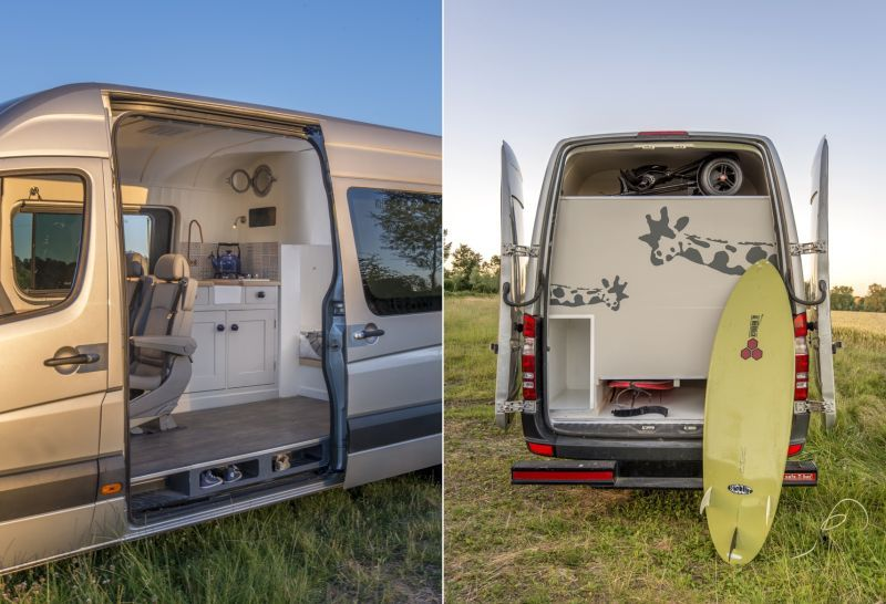 This Camper Van Conversion By London Based Jack Richens And Lucy Hedges Has Cosy Sleeping Space For Two Adults Children