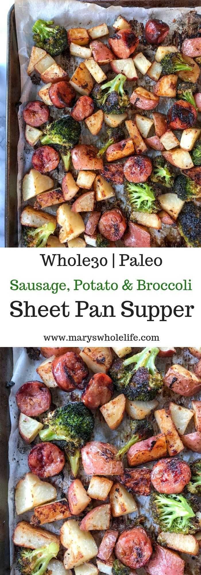 Sausage Potato  Broccoli Sheet Pan Supper