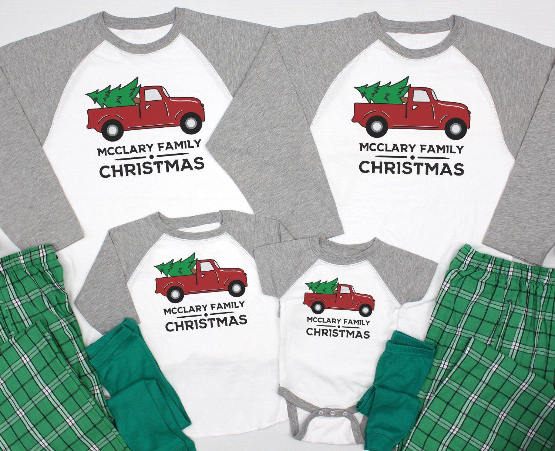 Matching Christmas Pajamas Family Matching Family