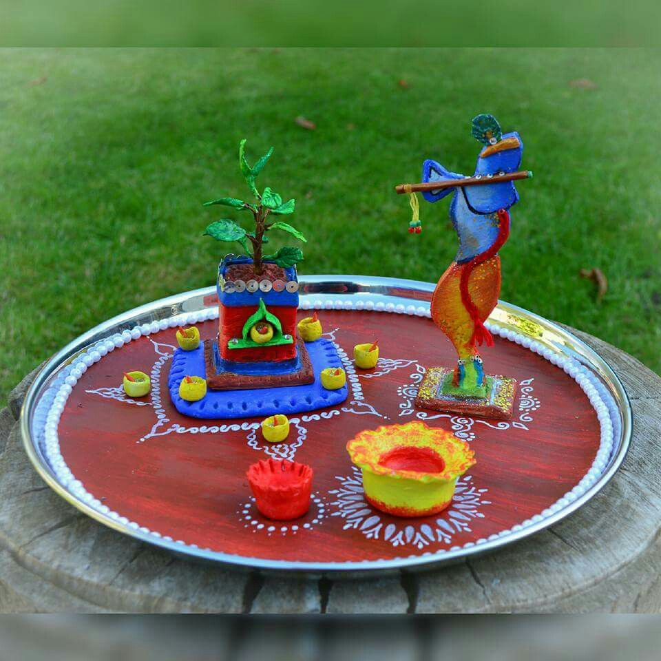 Indian Festival Decoration Aarti Thali Decoration Ideas For Ganpati Ganesh Festival