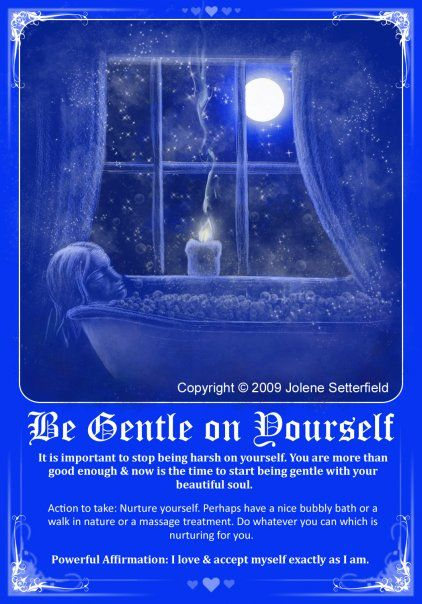 Take it easy....Be Gentle On Yourself <3