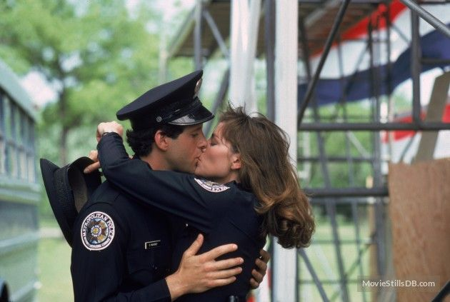 Steve Guttenberg and Kim Catrall in Police Academy   Love ...