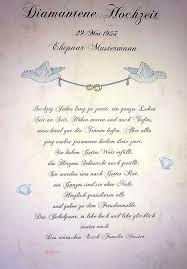 Bildergebnis Fur Diamantene Hochzeit Spruche Kostenlos Feiertage