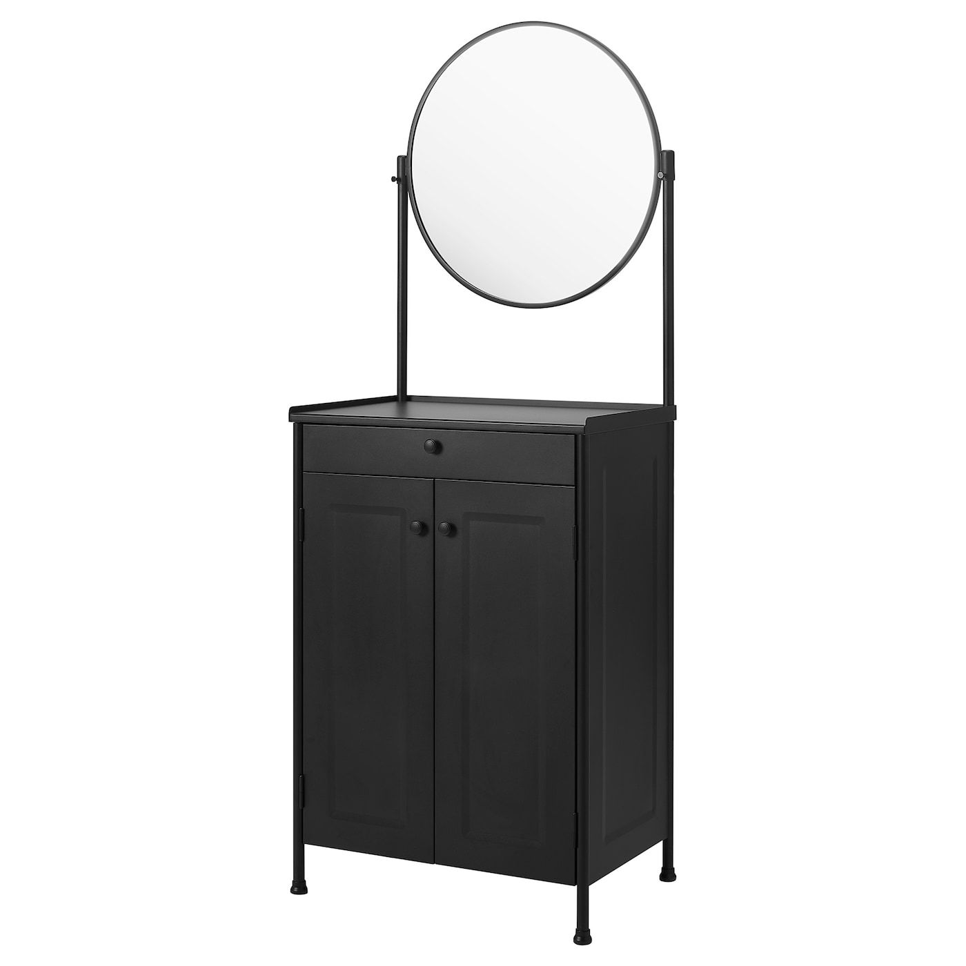 Beautiful Black Vanity Makeup Room Has Ikea Alex Drawers And Linnmon Table Top Room Decor Room Inspiration Vanity Makeup Rooms