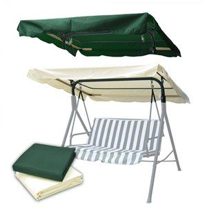 Outdoor Swing Canopy Top Replacement Chair Cover 66x45 Garden Yard