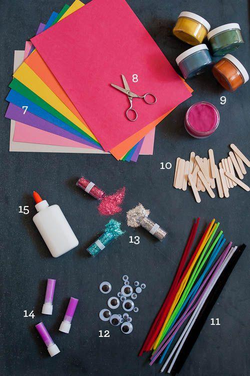 essential kid's craft supplies