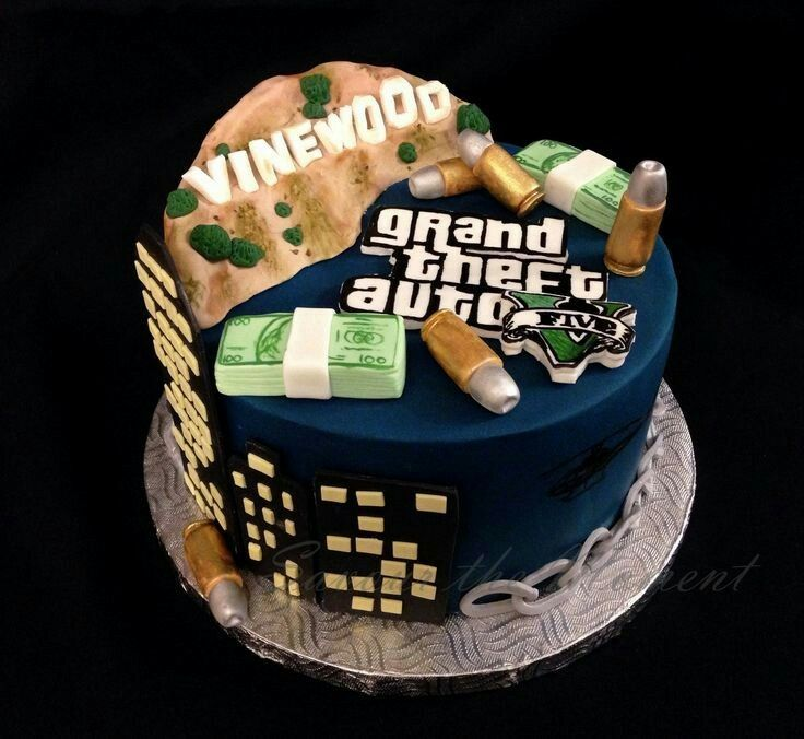 Pin by Xavier Horner on cars Pinterest Grand theft auto Cake