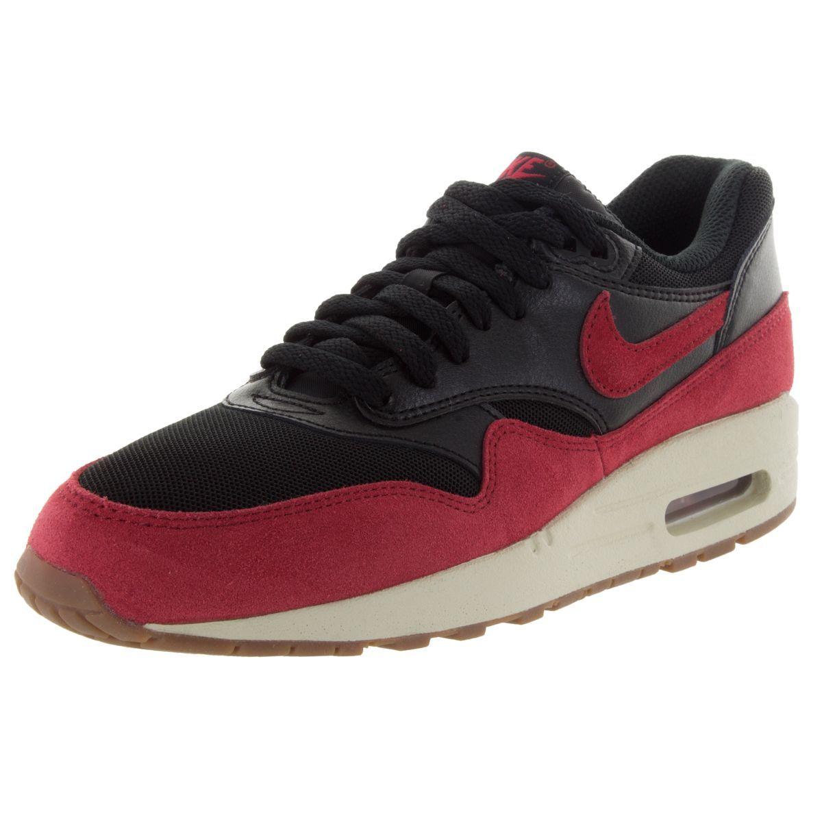 Nike Women's Air Max 1 Essential /Gym Red/Sail/ Brown Running Shoe