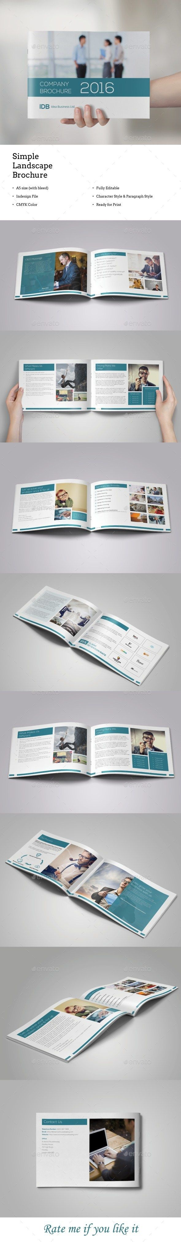 a5 landscape brochure template indesign indd download here httpsgraphicrivernetitema5 landscape brochure16937879refksioks