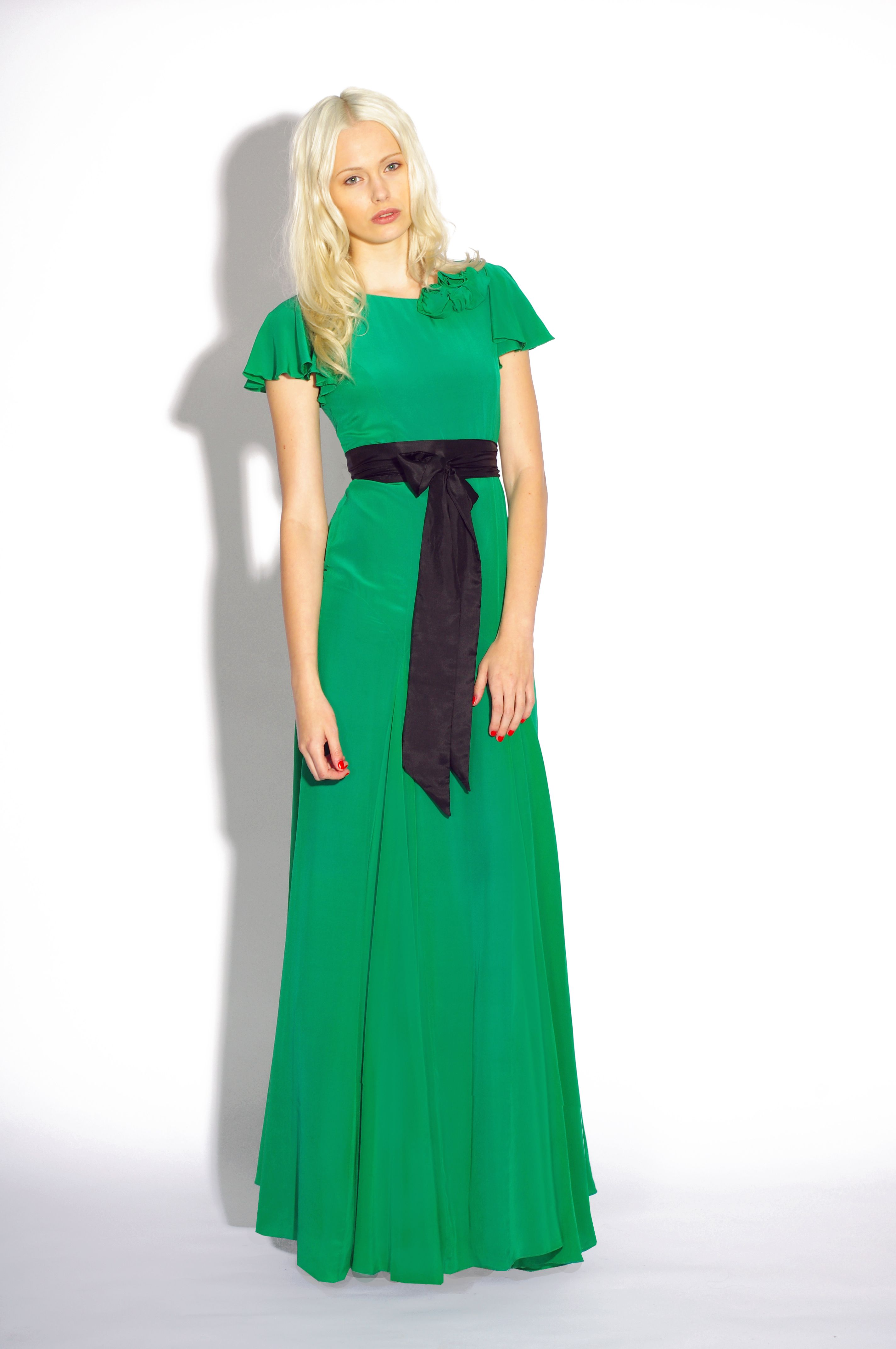 Emerald green dress for wedding  A Belle u Bunty Classic Willow Style  Bright and Bold Emerald Floor
