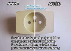 facile et rapide comment blanchir du plastique jauni avec du bicarbonate astuces gm. Black Bedroom Furniture Sets. Home Design Ideas