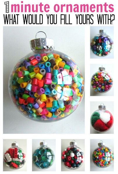 Christmas Ornament Crafts  Clear plastic ornaments Ornament