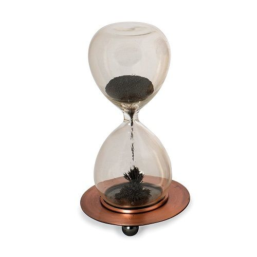 Magnetic Sand Timer creates mesmerizing effect. holiday gift exchange ideas. office gifts under 20.
