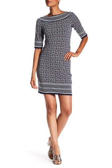 88ada765 Mixed Print Sheath Dress by Max Studio on @HauteLook | Looking good ...
