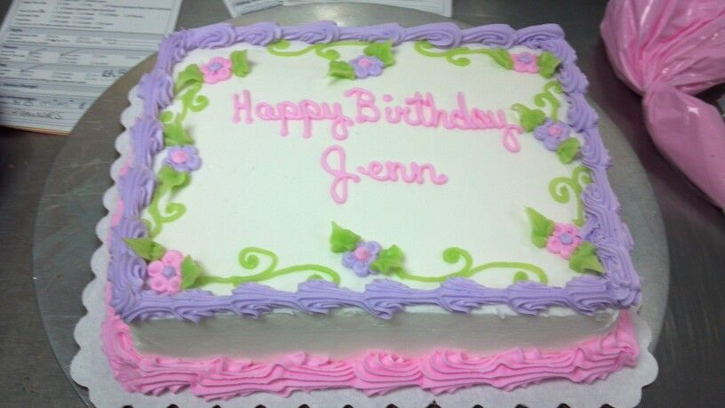 1/8 sheet Birthday sheet cakes, Cake decorating, Cake