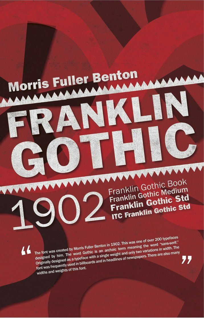 franklin gothic type face poster