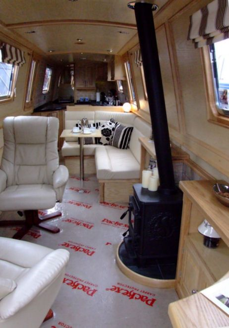 Image result for modern narrowboat interiors   Boats - Canal boats ...