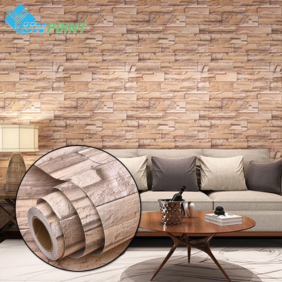 Aliexpress Com Buy 3m 5m Modern Vinyl Self Adhesive Wallpaper Pvc Waterproof Stone Wallpapers Gray White Br Stone Wallpaper Wall Stickers Bedroom White Brick