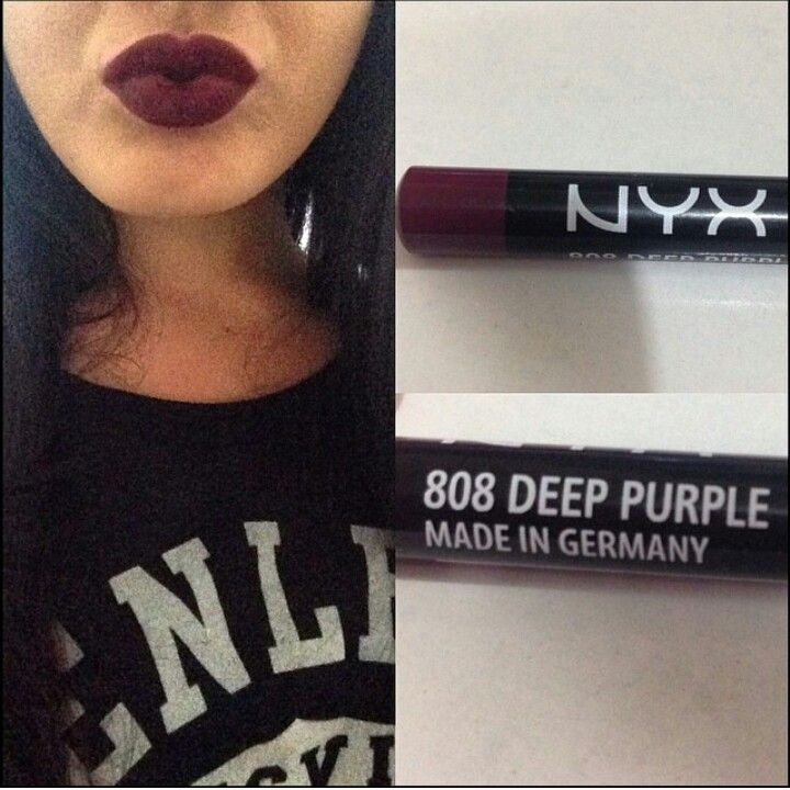 i love dark lipstick nyx cosmetics 808 deep purple beatface pinterest make up. Black Bedroom Furniture Sets. Home Design Ideas