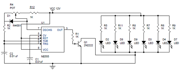 Pwm Based Led Dimmer Using 555 Circuit Block Diagram Working Power Led Dimmer Circuit Diagram Electronic Engineering