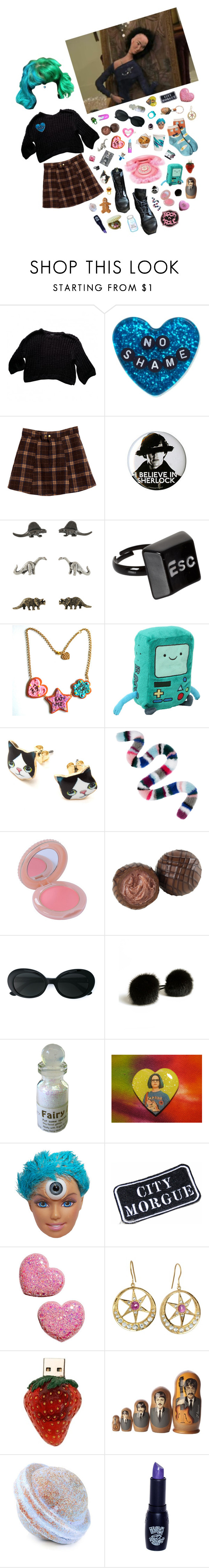 """""""Body and soul, i'm a freak"""" by queenofrocknroll ❤ liked on Polyvore featuring Monki, Sourpuss, CASSETTE, Dr. Martens, ASOS, Charlotte Simone, Paul & Joe, Yves Saint Laurent, Jennifer Behr and Lucky Brand"""