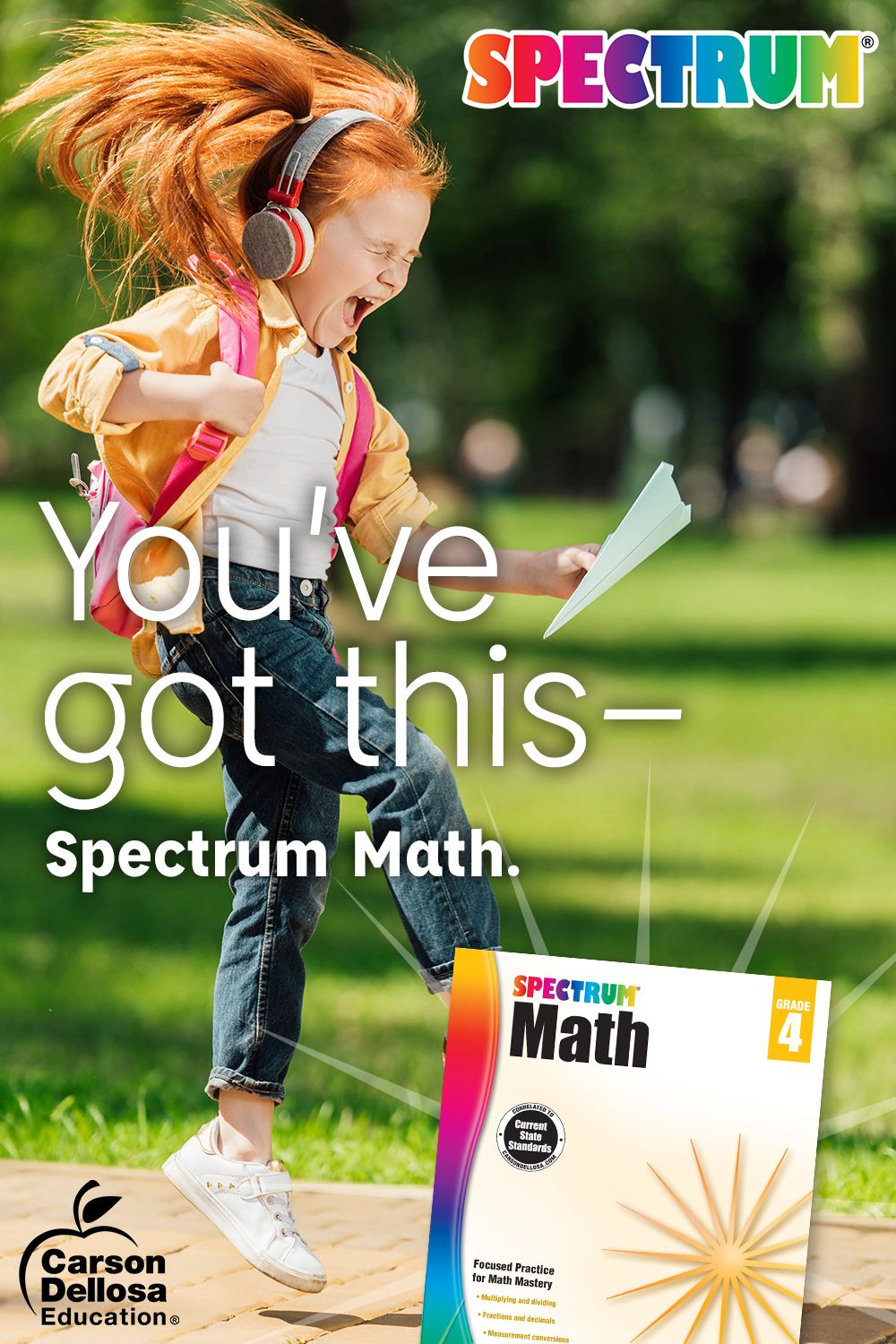 You Ve Got This Keep Your Kids At The Top Of Their Game With Spectrum Math Math Work Math Workbook Summer Math [ 1500 x 1000 Pixel ]