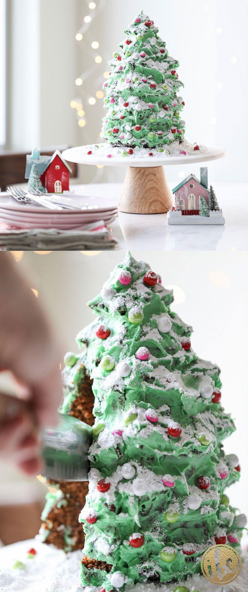 Christmas Tree Gingerbread Cake dessert recipe Christmas