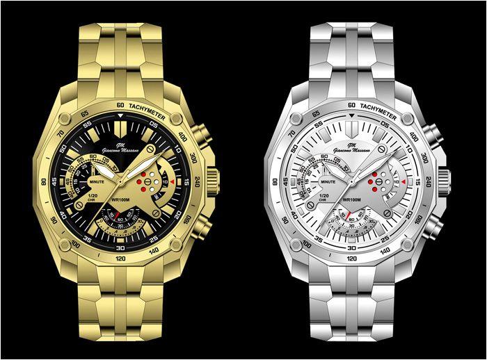 Modny Meski Zegarek Srebrny Zloty Promocja 5686204485 Oficjalne Archiwum Allegro Gold Watch Breitling Watch Accessories