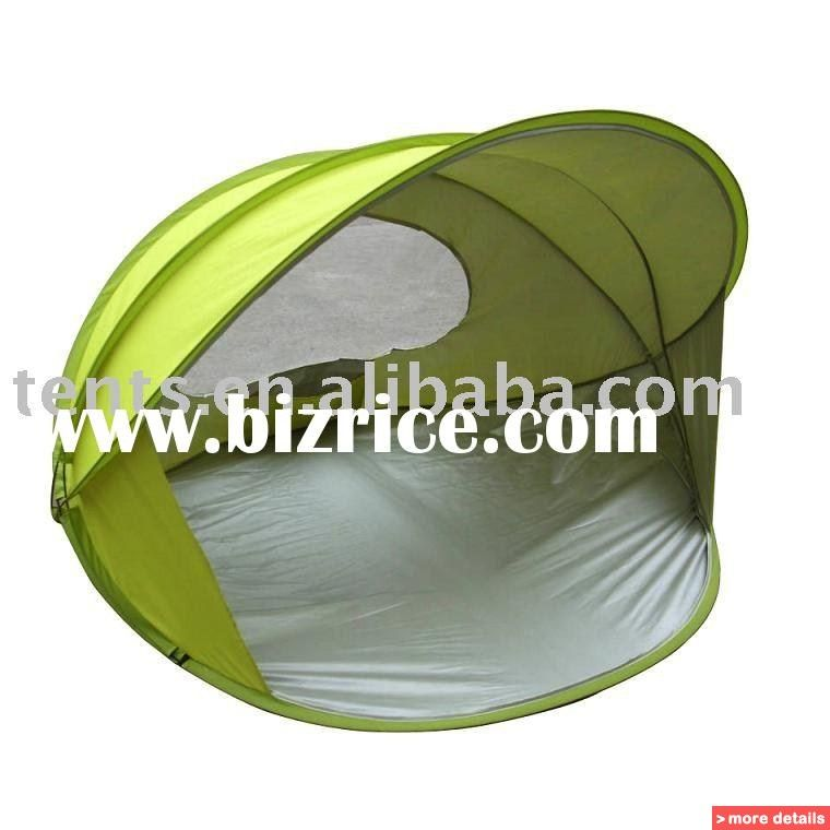 Pop Up Beach Shelters : Pop up beach tent folding shelter