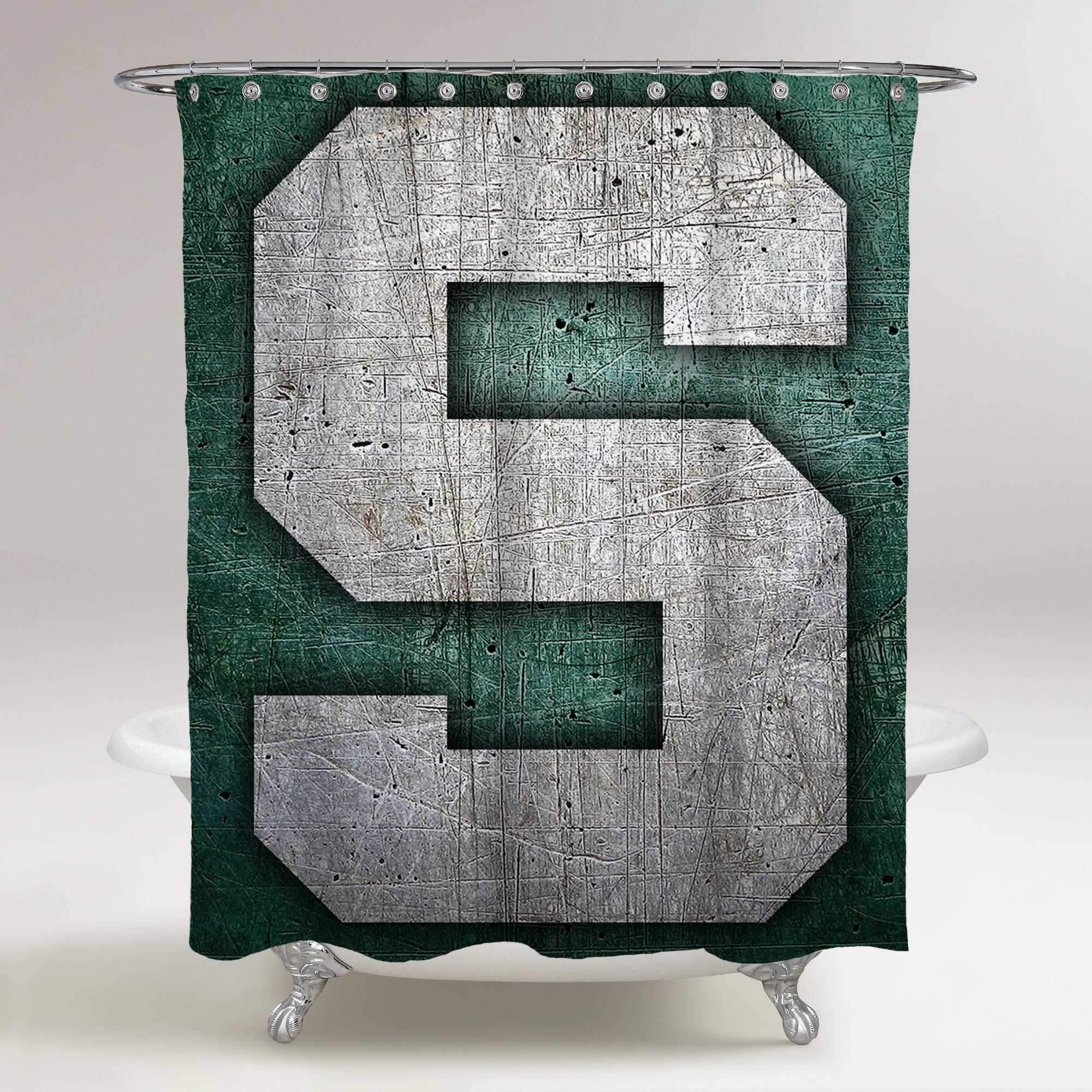 Michigan State Spartans Logo S Printed Shower Curtain Bathroom Decor