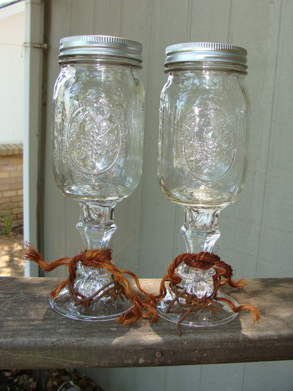 Redneck Wedding Ring Wine Glass Set WE FC Wedding and Rednecks